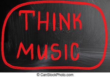 přemýšlet, hudba, pojem