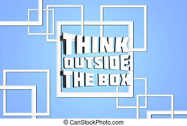 přemýšlet, mimo, dávat, konzervativní