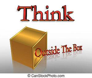 přemýšlet, mimo, dávat
