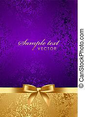 přepych, grafické pozadí, s, gold poklona