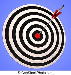 přesný, oko, plán, strategický, poutavý, ukazuje, býci, branka