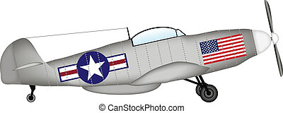 p-51, kämpfer, amerikanische , mustang