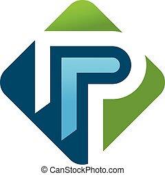 p., begreb, brev, logo