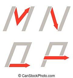 p, letras, m, este prego, n