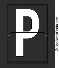 P Letter from mechanical timetable board