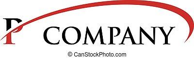P Letter Swoosh Logo - Logo Template