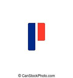 P logo vector template