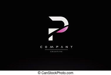P letter logo design with black orange color. cool modern icon