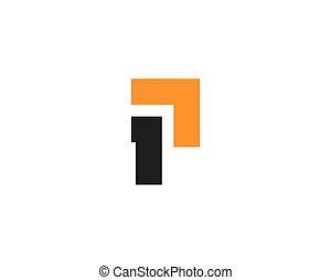 p, vettore, lettera, logotipo