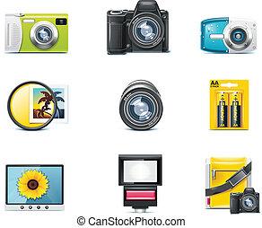 p.1, fotografía, vector, icons.