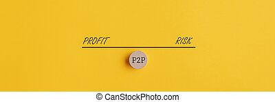 p2p, risque, investissement, peser, profit