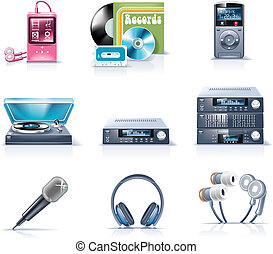 p.9, appliances., hushåll, vektor