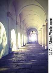 paßte, altes , tunnel, licht, effekte, ende