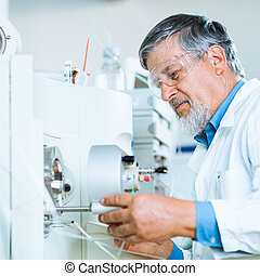 paßte, image), wissenschaftlich, forscher, (shallow, labor, ...