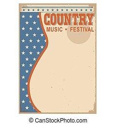 país, americano, música, fundo, texto