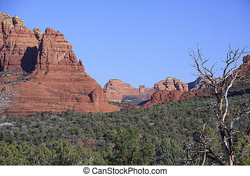 país,  arizona, rojo, roca