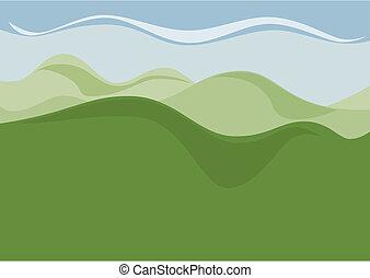país, colina