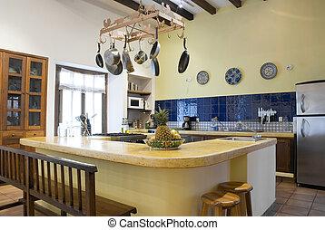 país, cozinha