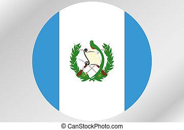 país, dentro, bandera, ilustración, guatemala, círculo