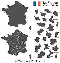 país, francia, silueta