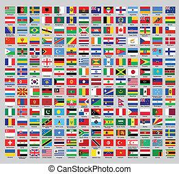 país, funcionario, banderas
