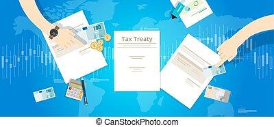 país, impuesto, acuerdo, tratado, tratos, entre, ...