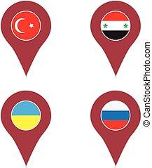 país, jogo, localização, alfinete