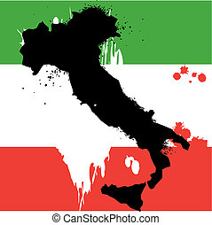 país, línea, italia, grunge, frontera