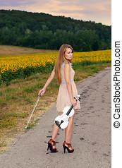 país, mulher, estrada, plataformas, vilolin