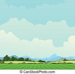 país, paisagem, fundo