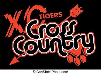 país, tigres, cruz