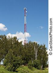 país, torre, paisaje, celular