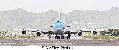países baixos, boeing 747, 19, juliana, -, aeronave, st,...