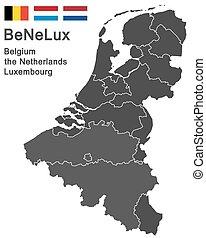 países bajos, bélgica, luxemburgo