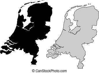países bajos, mapa