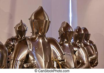 pałac, ambras, rycerz, zbroja, -, austria, innsbruck