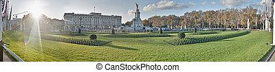 pałac buckinghama, na, londyn, anglia