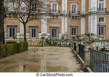 pałac, madryt, królewski, aranjuez, hiszpania, budowa.