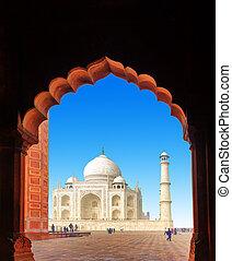 pałac, mahal., indie, tajmahal, indianin, taj