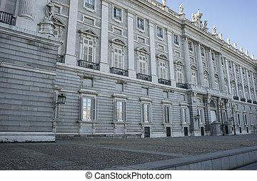 pałac, miejsce zamieszkania, królewski, o, pomnik, królowie, hiszpania, dawny