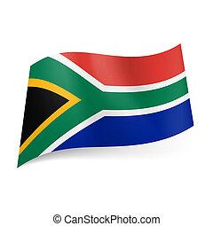 państwowa bandera, południe, afryka.