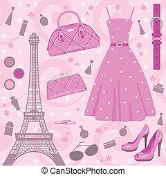 paříž, móda, dát