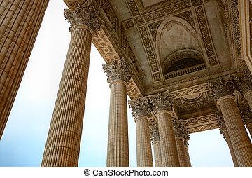 paříž, pantheon, sloupec