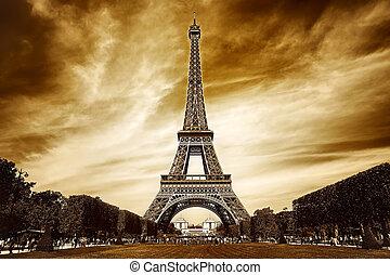 paříž, věž, eiffel