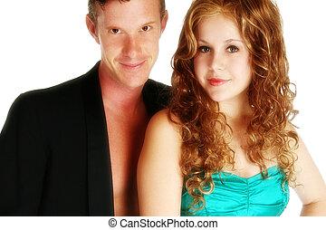 paar, aantrekkelijk, jonge