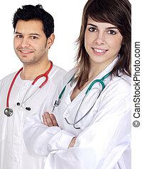 paar, artsen