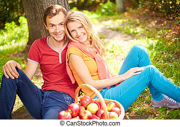 paar, attraktive