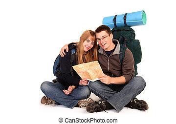 paar, backpacking