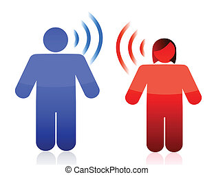 paar, begriff, kommunikation