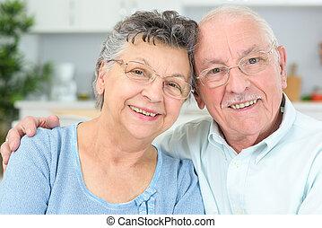 paar, bejaarden